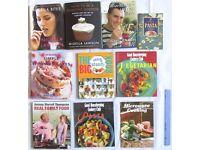 10 BOOKS cookery Nigella Lawson Antony W Thompson Gary Rhodes Good Housekeeping ready steady cook