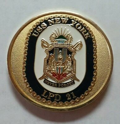 USN Navy Command Master Chief USS New York LPD 21 Never Forget Challenge Coin - Master Chief Navy
