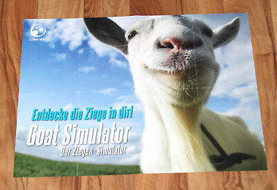 Goat Simulator   Der Ziegen Simulator Rare German Poster Ps4 Xbox One 360