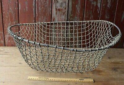Vintage Metal Basket Trug Large 2 Handles Sieve