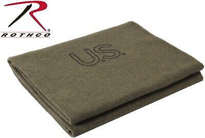 2lb Wool Blanket Gray Warm Army Style Military Emergency Survival Camping Park