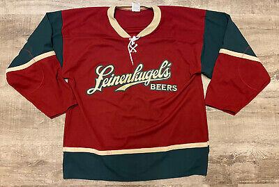 Leinenkugel's Beer Brewery Hockey Jersey Large Red