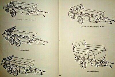 Massey Ferguson 18 Manure Spreader Parts Catalog Manual Book Original Mf 767