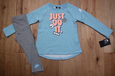 Orange Toddler Sweatshirt - Nike Toddler Girl Sweatshirt & Legging Set ~ Blue, Orange & Gray ~