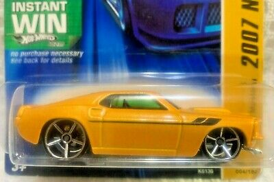 Hot Wheels 2007 - NEW MODELS - '69 FORD MUSTANG - YELLOW - OH5 SPK - INSTANT WIN