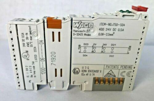 WAGO 750-504 4 Channel Digital Output Module 24V DC Remote IO