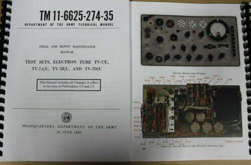 *USA*ULTIMATE TV-7D/U tester Repair Calibration Manual Color photos, Volt. Check