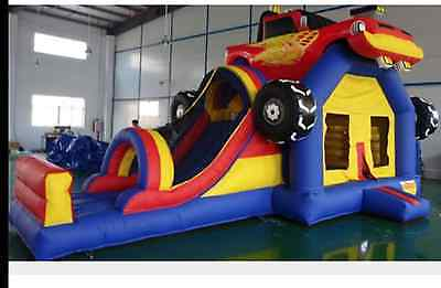 Inflatable Bounce House Truck Park water slide trampoline obstacle Courses