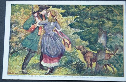 49523 Ak Horses Hunting Der Jäger IN The Grünen Forest Volkslieder IN Pictures