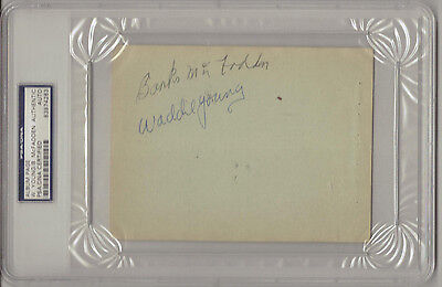 Waddie Young signed Album Page Collage Football Hall Of Fame Deceased WWII 1945