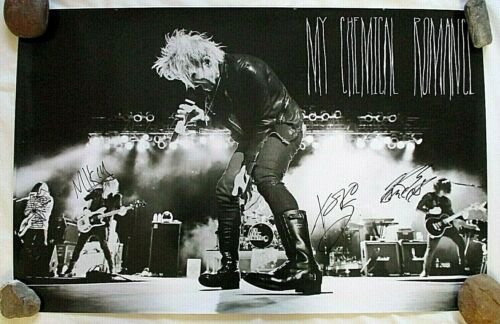 """My Chemical Romance, Autographed Poster, 22""""x 34"""" (2010) Never Displayed"""