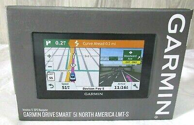 "Garmin DriveSmart 51 North America LMT-S 5"" GPS Navigator Automotive Car"