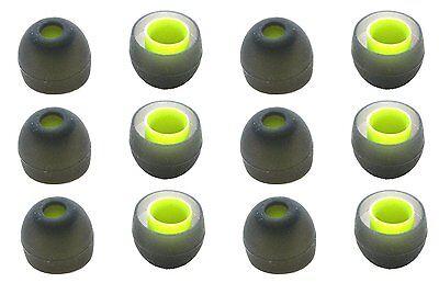 New 6 Pairs of Ear Tips for Jaybird BlueBuds X, X2 Bluetooth Headphones.(Medium)