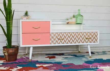 Retro Inspired Modern Three Drawer Sideboard