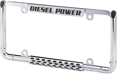 Chrome Metal License Plate Frame 4 Chevrolet Silverado 2500HD 3500 Diesel Engine