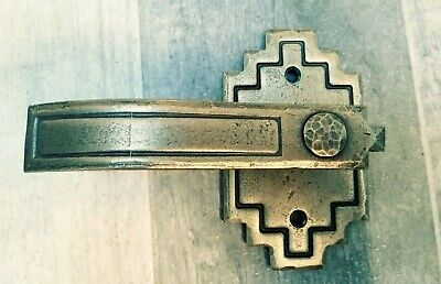 - Southwest Forge Door Hardware Dummy Aztec Antique Brass Lever Finish Hand Forged