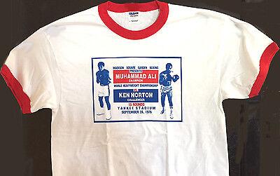 Men's New Boxing Fight Muhammad Ali vs Ken Norton T-Shirt White XL Red Ringer (Red Ringer)