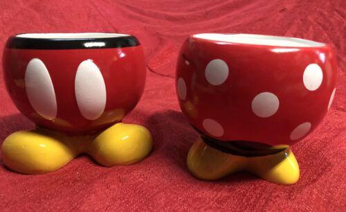 Set 2 Disney Mickey & Minnie Mouse Ceramic Flower Pot Plant