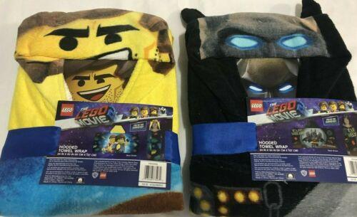 The Lego Movie Hooded Towel Wrap Emmet or Batman 24x50 cotton new