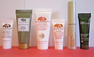 6 Pc Origins Vitazing Tinted Moisturizer Ginzing Eye Cream   Mascara More Travel