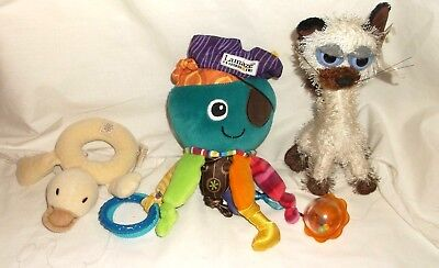 Lamaze   OCTOPUS PIRATE Baby Activity Plush   FREE  Kitty & Rattle MI YIM