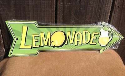 Lemonade This Way To Arrow Sign Directional Novelty Metal 17
