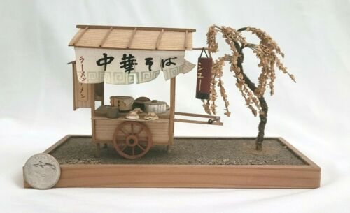 Vintage Japanese miniature Diorama Food Cart