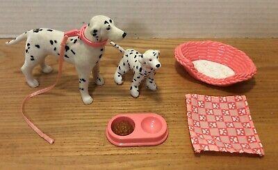Barbie Pet Lovin' Dalmatian and Puppy Flocked Dog Accessories Blanket Mattel HTF