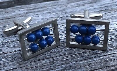 """Vintage ABACUS CUFFLINKS with Moveable Beads - MEN""""S JEWELRY"""