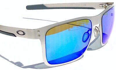 NEW* Oakley HOLBROOK METAL Matte Silver w POLARIZED Galaxy Blue Sunglass (Holbrook Blue)