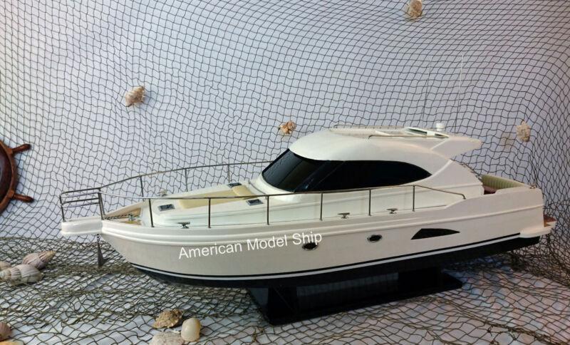 "RIVIERA 4700 Sport Yacht 36"" - Handmade Wooden Ship Model NEW"