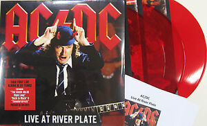 AC/DC LP Live At River Plate RED VINYL Triple album + Promo Sht 2012 NEW SEALED