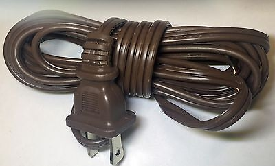 Brown Lamp Cord - 8' or 15' BROWN PLASTIC  COATED LAMP CORD HAS POLARIZED PLUG 18/2 SPT-1 46714JB