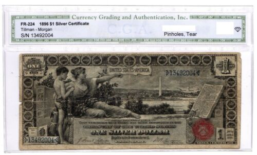 1896 Silver Certificate One $1 Dollar Educational Note FR 224