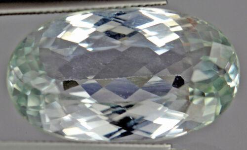 35.58 Cts Natural (Uheated) Aqua Blue Patroke Kunzite Gemstone