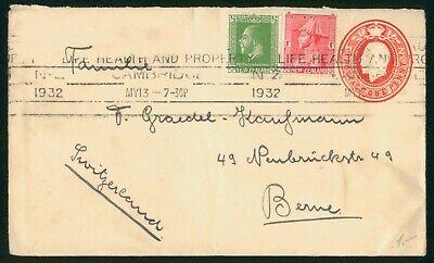 Mayfairstamps New Zealand 1932 Uprated Stationery to Switzerland Health Slogan C
