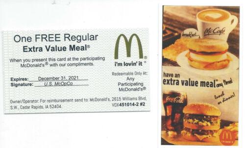 10 Mcdonalds Combo Meal Cards  Halloween special+1 bonus card