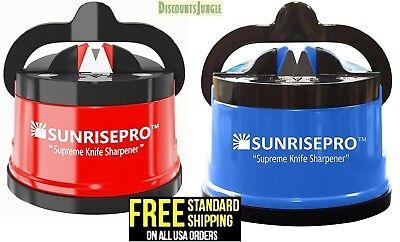 SunrisePro Supreme Best Kitchen Knife Sharpener for all Blade Types Easy & Safe