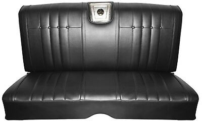 1966 Impala Coupe Rear Bench Seat Upholstery in Black, SS or Standard