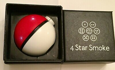 Pokeball Herb Grinder by 4 Star Smoke with black gift box
