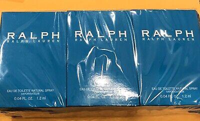 LOT OF 12! Ralph by Ralph Lauren Women Eau de Toilette spray .04 OZ vials SEALED
