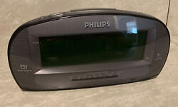 Phillips alarm clock radio used some scratches as shown in pictures, rare Vintag
