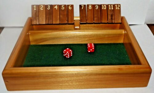 Shut The Box Game Hand Crafted Wood Bar Dice