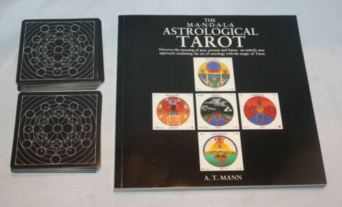 Vintage Rare The Mandala Astrological Tarot Card Deck & Book By A.T. Mann Rare