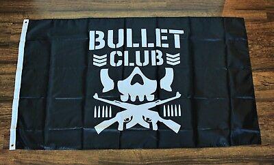 Bullet Club Flag Black Flag Banner Wrestling WWE WWF NCW Ships from the USA New