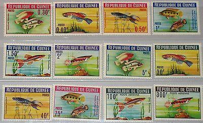 GUINEA 1964 214 25 A 315 24 C54 55 FISH FISCHE MARINE FAUNA SEA LIFE MEERESTIERE