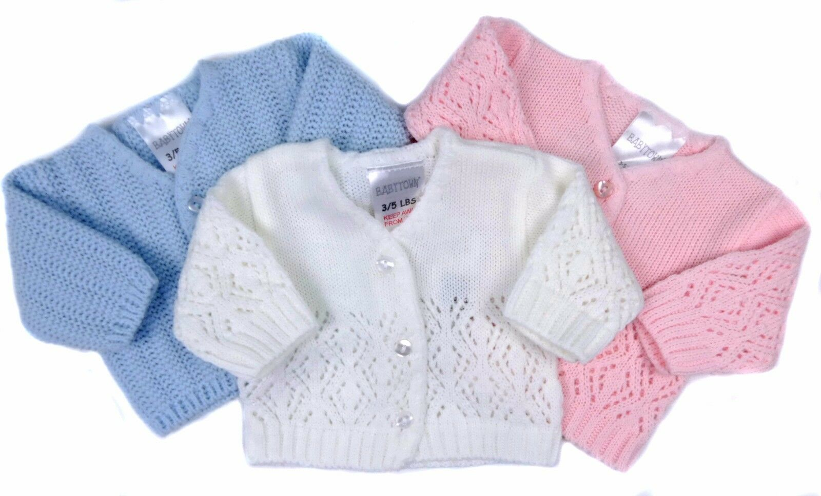 Prem Baby Early Baby Reborn Doll Cardigans Boy Girl White Pink Blue 3-5LB 5-8LB