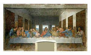 THE LAST SUPPER LEONARDO DA VINCI FAITHFUL REPRODUCTION ON GICLEE CANVAS 24