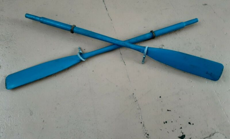 Vintage Oars Great Bold Color with Oarlocks and Leather