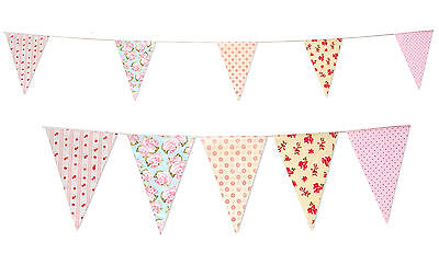 Bunting 35 Flags 10M Shabby Chic Bridal Baby Shower Party Bunting Vintage Flag ()